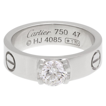 Cartier 18K White Gold Love Solitaire Ring