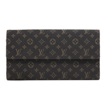 Louis Vuitton Ebene Mini Lin Sarah Wallet