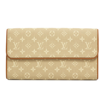 Louis Vuitton Beige Mini Lin Porte Tresor International Wallet