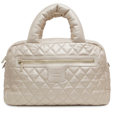 Chanel Light Gold Lambskin Cocoon Bowler