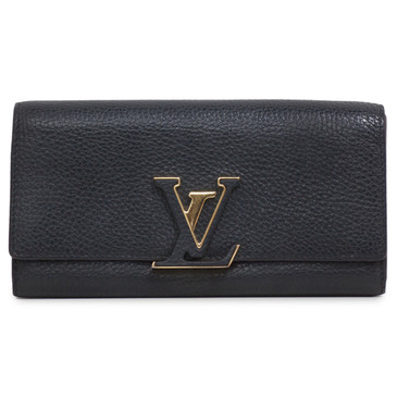 Louis Vuitton Black Taurillon Capucines Wallet