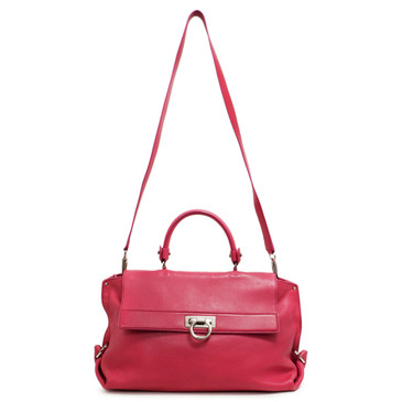 Salvatore Ferragamo Pink Pebbled Leather Large Sofia Bag