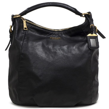 Prada Black Soft Calfskin Large Hobo