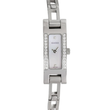 Gucci 3900L Stainless Steel & Diamond Ladies Watch