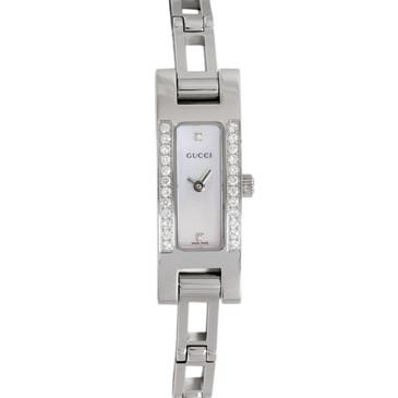 Gucci 3900L Stainless Steel & Diamond Ladies Watch
