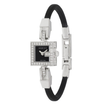 Gucci 102 G Mini Stainless Steel & Diamond Ladies Watch