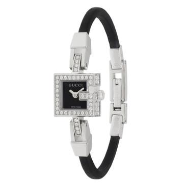 Gucci 102 G Mini Stainless Steel & Diamond Ladies Watch