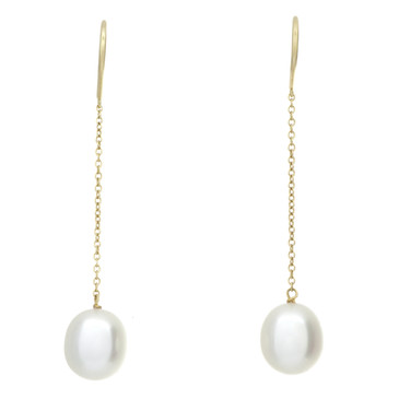 Tiffany & Co. 18K Yellow Gold Pearls by the Yard Chain Earrings
