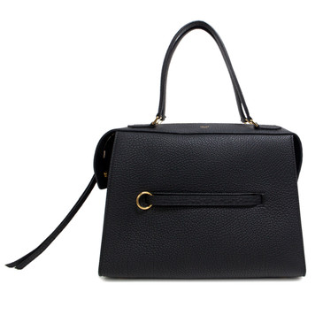 Celine Black Bullhide Calfskin Small Ring Bag