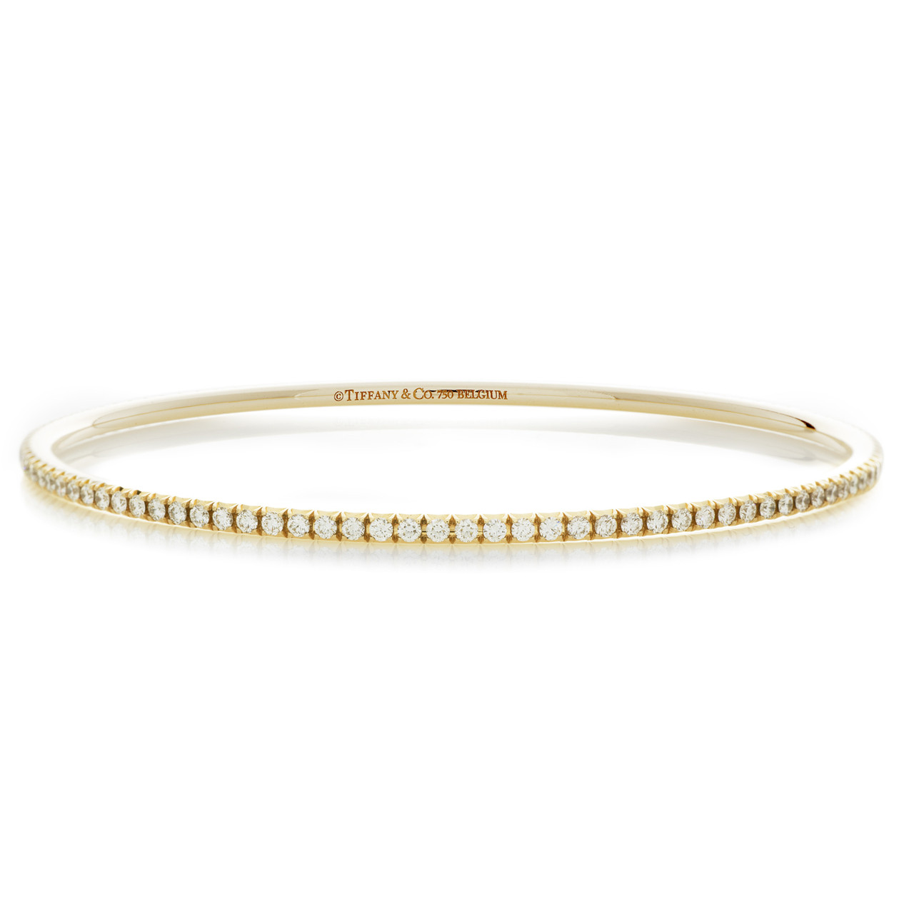 2de55058c Tiffany & Co. 18K Yellow Gold & Diamond Metro Bangle - modaselle