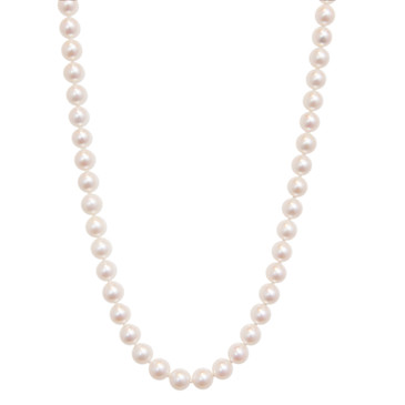 "Mikimoto 18"" Akoya Cultured Pearl & 18K Strand Necklace"