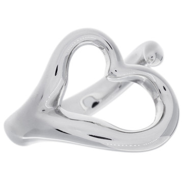 Tiffany & Co. Sterling  Silver Open Heart Ring