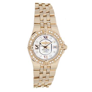 Breitling 18K Rose Gold & Diamond Starliner Ladies Watch H71340