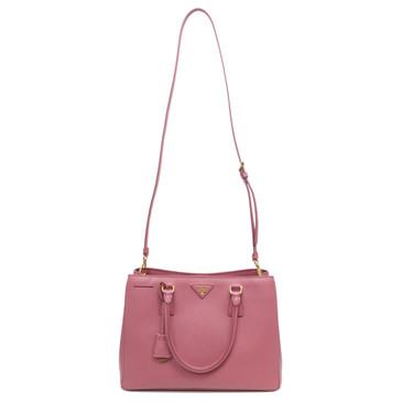 Prada Pink Saffiano Lux Medium Tote