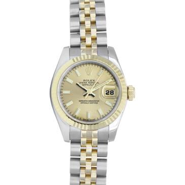 Rolex 18K & Stainless Steel Ladies  Datejust 179173