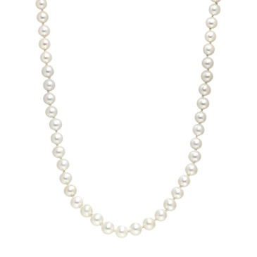 David Yurman Sterling Silver & Pave Diamond Pearl Stand Necklace