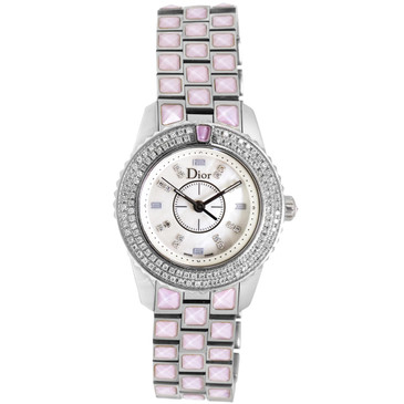 Christian Dior Stainless Steel & Diamond Christal Ladies Watch CD112117