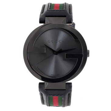 Gucci Black PVD Interlocking G Men's Watch