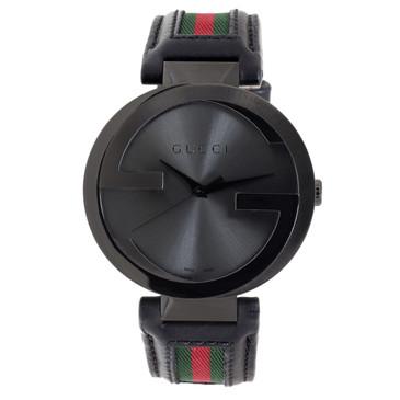 Gucci Black PVD Interlocking G Men's Watch