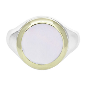 Tiffany & Co. Sterling Silver, 18K & Mother of Pearl Ring