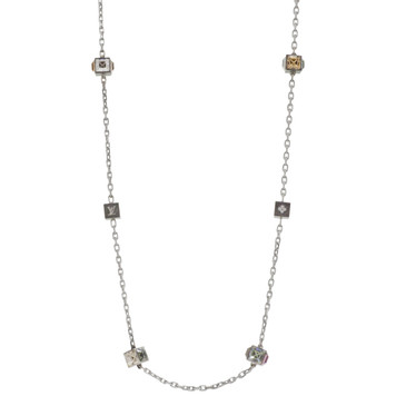 Louis Vuitton Swarovski Crystal Long Gamble Necklace