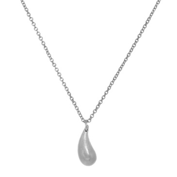 Tiffany & Co. Sterling Silver Teardrop Pendant Necklace