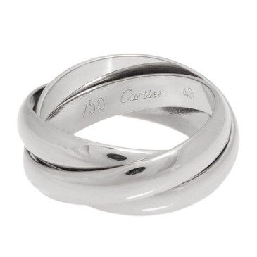 Cartier 18K White Gold Trinity Ring