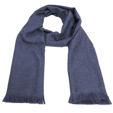 Gucci Blue Monogram Wool Scarf
