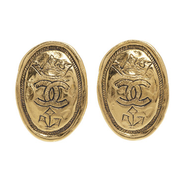 Chanel CC Medallion Clip On Earrings