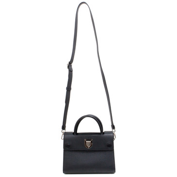 Christian Dior Black Bullcalf Mini Diorever Bag