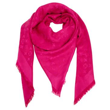 Louis Vuitton Strass Pink Monogram Shawl