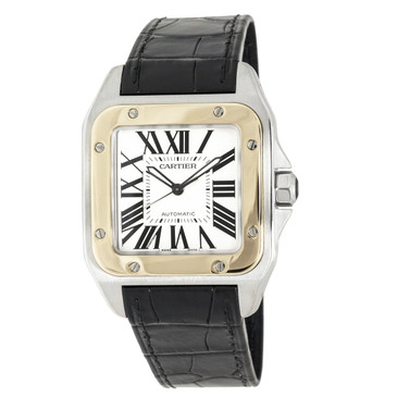 Cartier 18K & Stainless Steel Santos 100 XL Automatic Watch