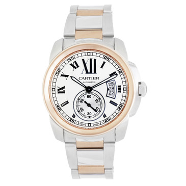 Cartier Calibre De Cartier 18k Rose Gold & Stainless Steel Automatic Watch
