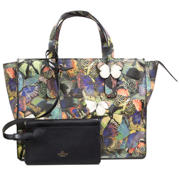 Valentino Large Camubutterfly 3D Textured Tote