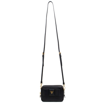 Prada Nero Saffiano Mini Bow Camera Bag