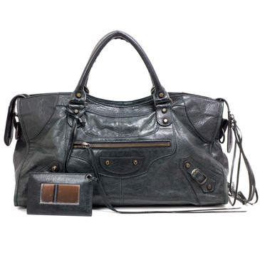 Balenciaga Black Lambskin Part Time Bag