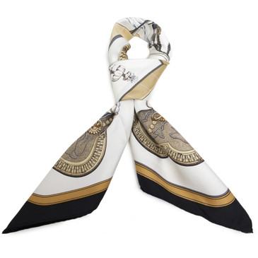 Hermes Silk Grand Apparat Scarf 90