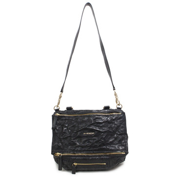 Givenchy Black Tumbled Sheepskin Medium Pandora Bag
