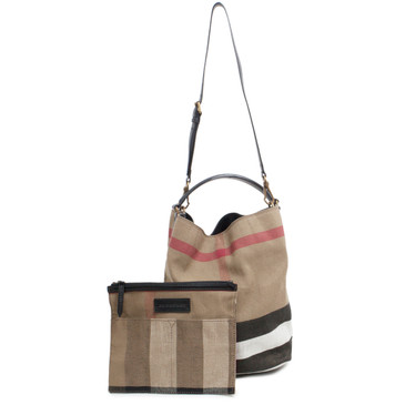 Burberry Canvas Check Medium Ashby Bag