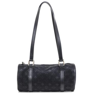 Louis Vuitton Black Satin Mini Monogram Papillon Bag