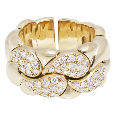 Chopard 18K Yellow Gold & Diamond Casmir Ring