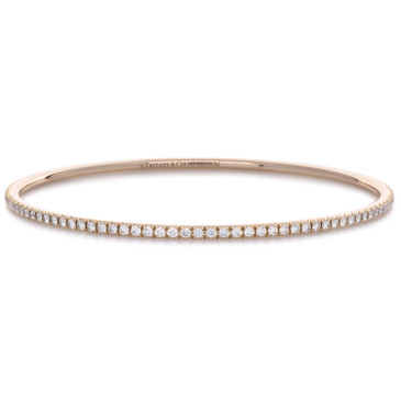 Tiffany & Co. 18K Rose Gold & Diamond Metro Bangle