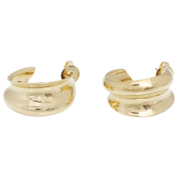 Tiffany & Co. 18K Yellow Gold Frank Gehry Hoop Earrings