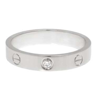 Cartier 18K White Gold & Diamond Love Wedding Band