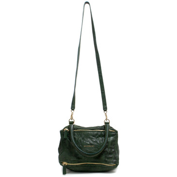 Givenchy Green Tumbled Sheepskin Small Pandora Bag
