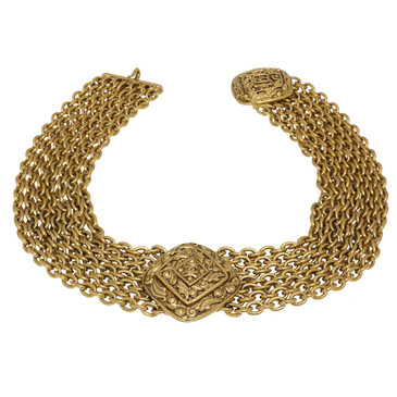 Chanel Multi Chain Choker Necklace