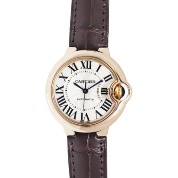Cartier 18K Rose Gold Ballon Bleu 33mm Automatic Watch
