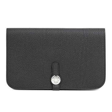 Hermes Black Togo Dogon Duo Wallet