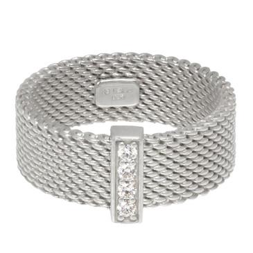 Tiffany & Co. Sterling Silver & Diamond Somerset Ring