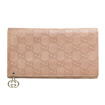 Gucci Guccissima Leather Interlocking G Continental Wallet